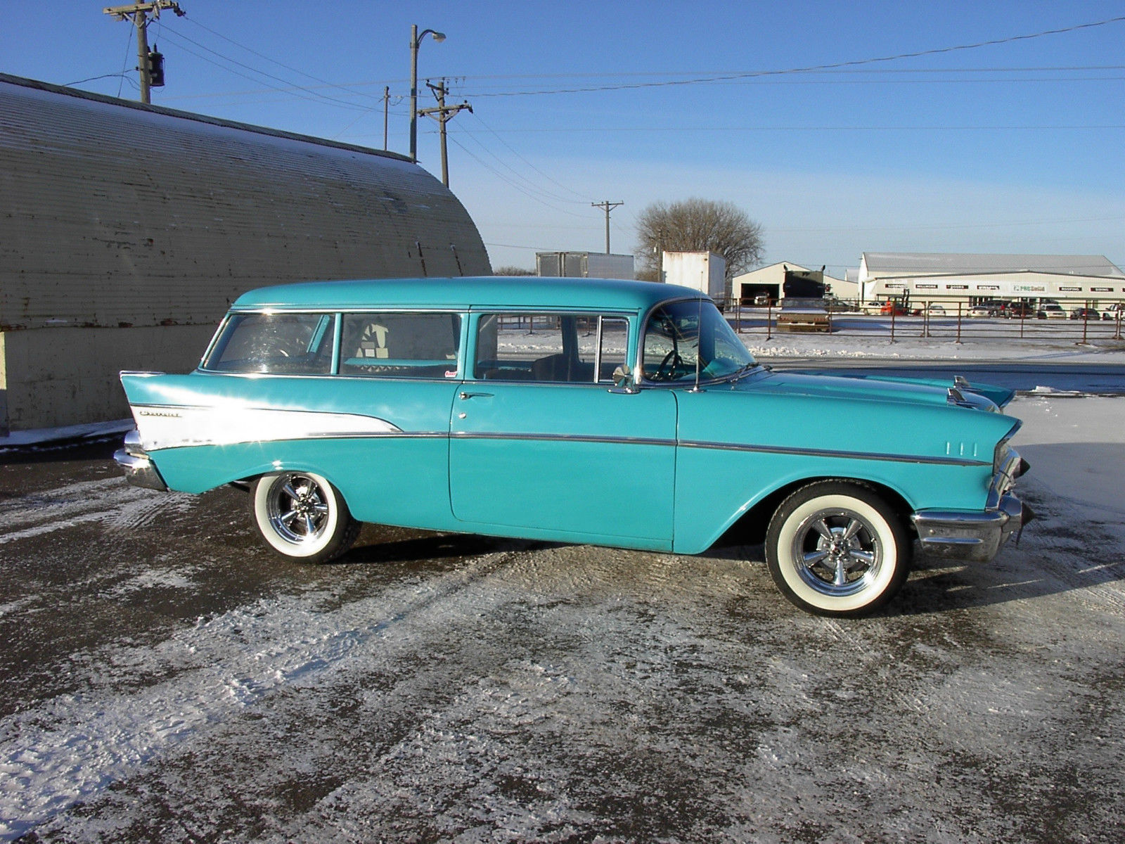 1957 57 Chevrolet Chevy Belair 150 210 Wagon Not A Nomad But Just As Bel Air Cool