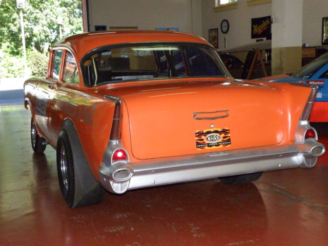 1957 chevrolet 150 2 door sedan gasser drag race car b gas for 1957 chevy 2 door sedan