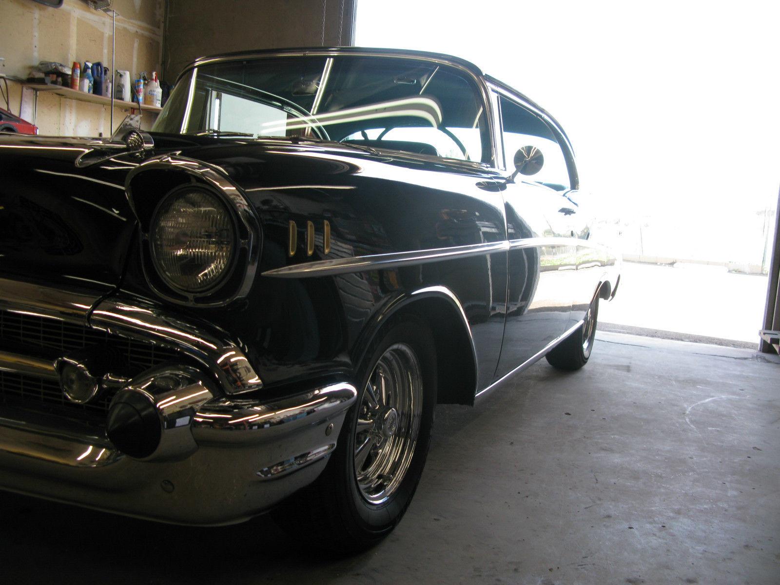 Northern California No Rust: 1957 Chevrolet 2 DOOR HARDTOP CALIFORNIA NO RUST BLACK