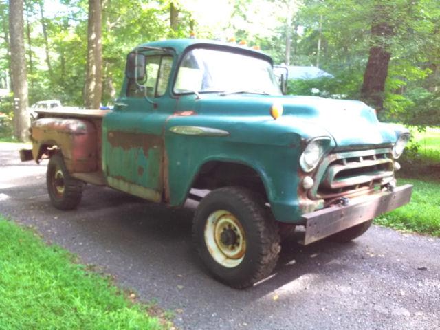 1957 chevrolet 3600 pickup truck original napco 4x4 for Motor vehicle trenton nj number