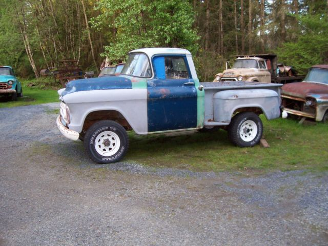 1957 Chevrolet Apache Shortbed Project Currently 4x4 Like Napco