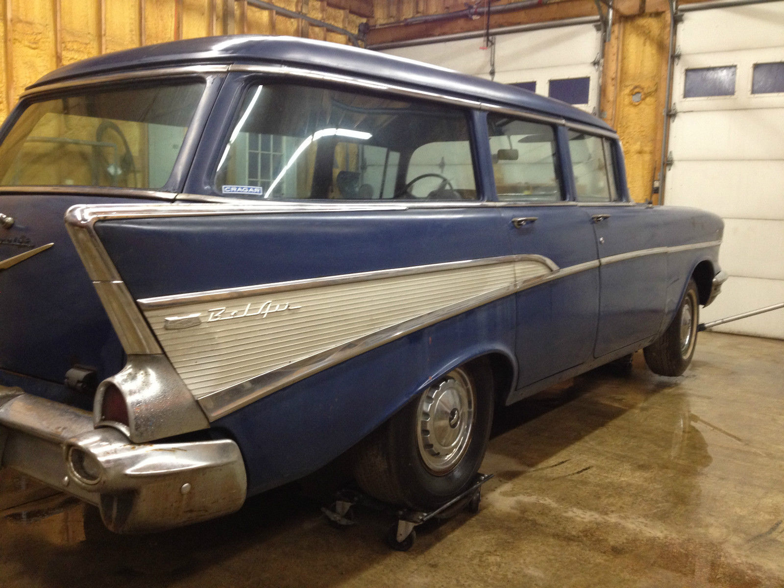 1957 Chevrolet Bel Air Base Wagon 4 Door Chevy Station