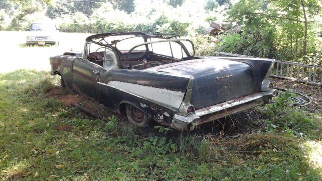1957 Chevrolet Bel Air Convertible 2-Door 283 rare parts car project car 55 56