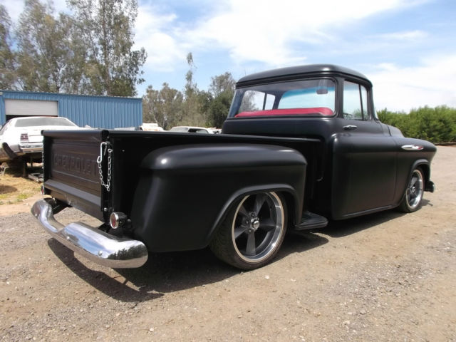 1957 chevrolet truck 3100 big window short bed hot rod. Black Bedroom Furniture Sets. Home Design Ideas