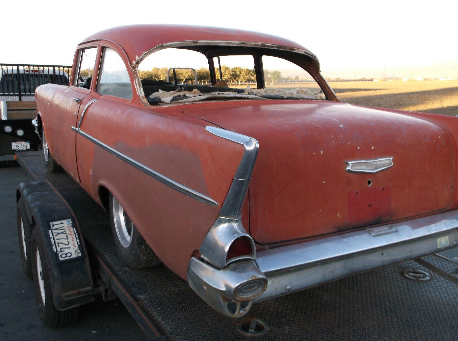 1957 Chevy 2 Door 150 Black Widow Gasser Hot Rod Pro Touring