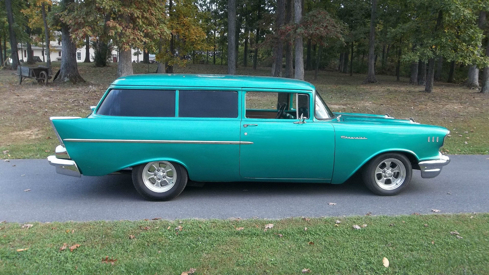 1957 chevy 2 door handyman wagon rare 350 auto for 1957 chevy two door wagon