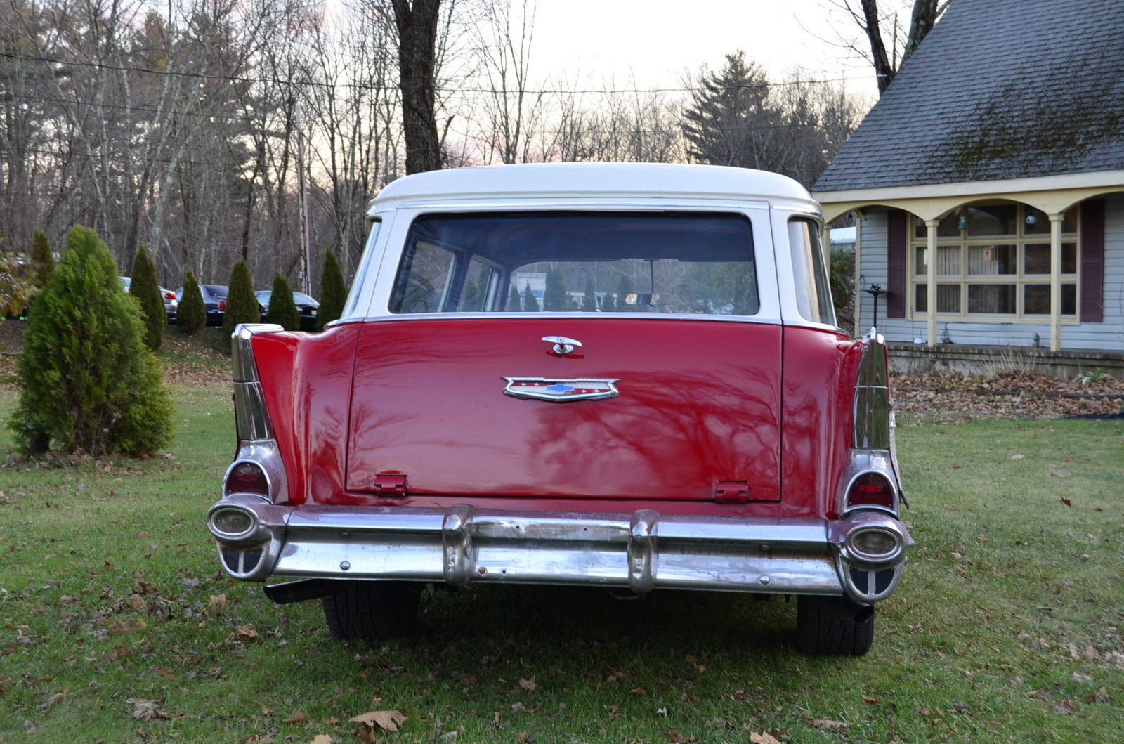 1957 Chevy 210 2 Dr Handyman Station Wagon 350 Auto Disk Driver Project