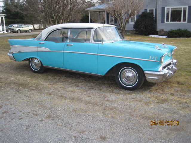 1957 chevy bel air sport sedan 4 door hardtop for 1957 chevy bel air 4 door hardtop