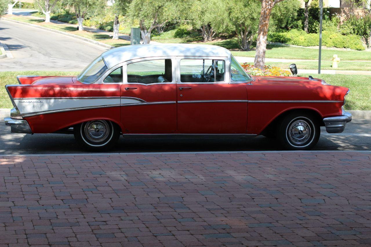 1957 chevy chevrolet 210 with bel air trim 4 door sedan for 1957 chevy 4 door car for sale