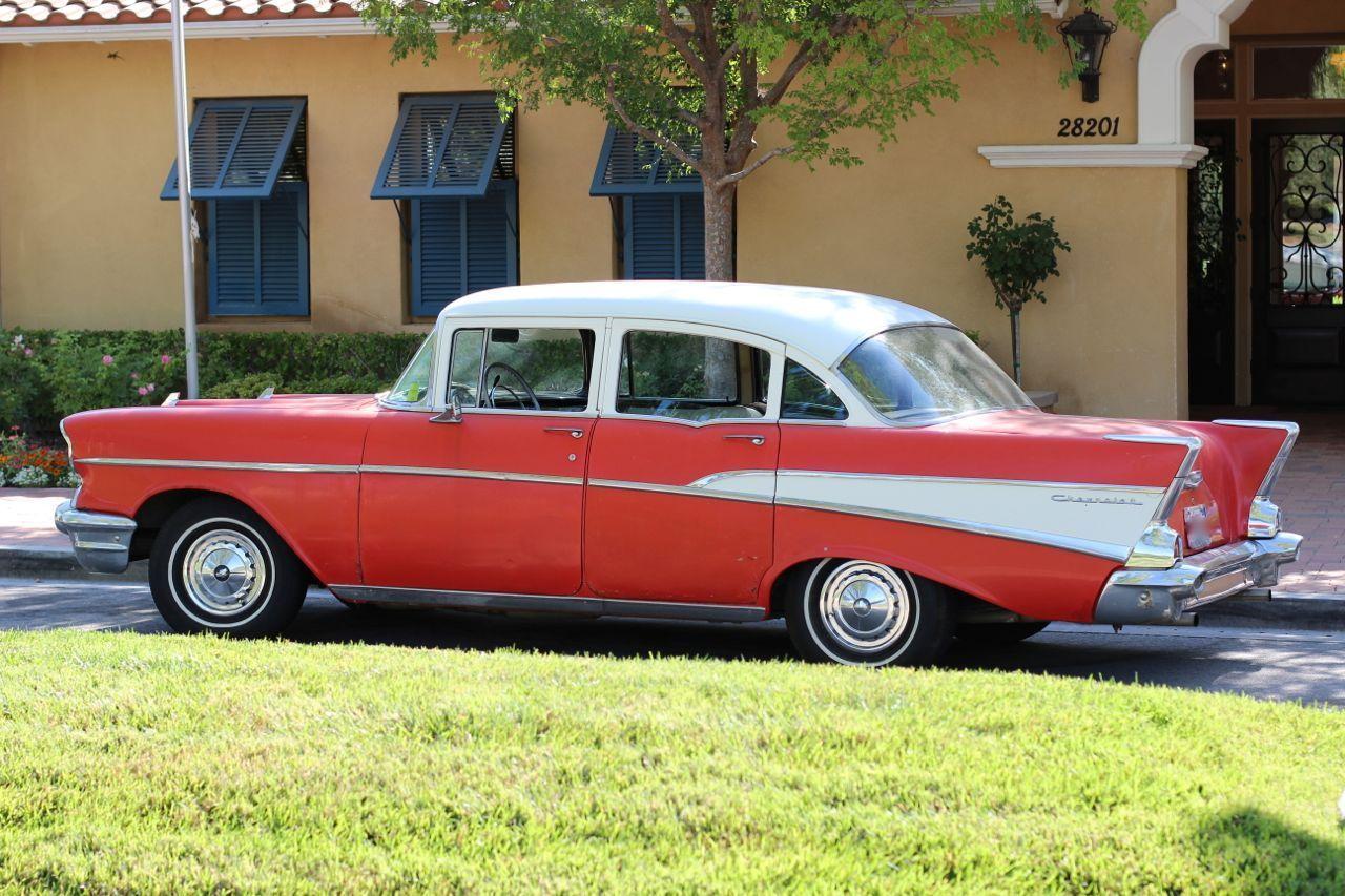 1957 chevy chevrolet 210 with bel air trim 4 door sedan for 1957 chevy 2 door sedan