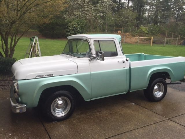 1957 Ford F100 Styleside Short Bed V8 Stock With Large