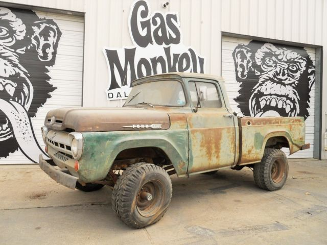 1957 ford f100 swb 4x4 conv barn find offered by gas. Black Bedroom Furniture Sets. Home Design Ideas