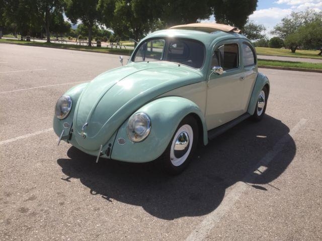 1957 vw beetle bug ragtop oval window for 1957 oval window vw bug