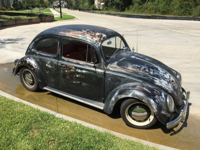 1957 vw bug beetle oval window classic patina hot rod for 1957 oval window vw bug