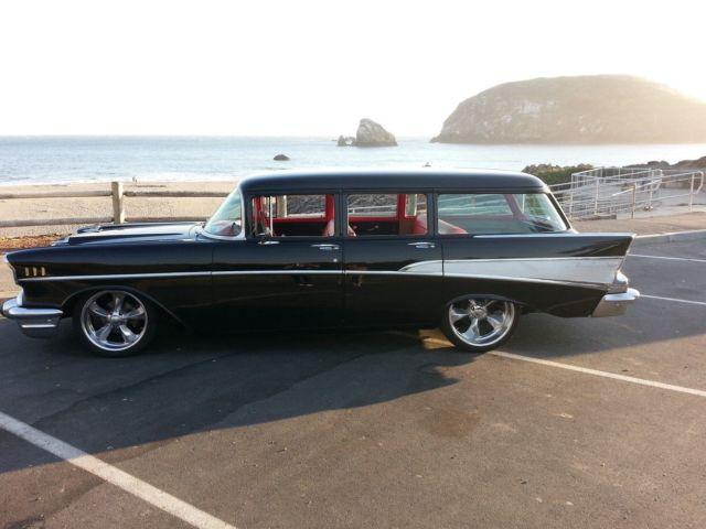 1957 wagon 210 belair 4 door pro touring custom chevrolet for 1957 chevy 210 4 door