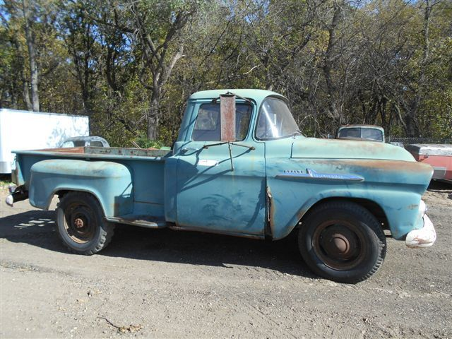 1958 chevrolet apache 3 4 ton pickup chevy farm truck rat rod patina. Black Bedroom Furniture Sets. Home Design Ideas