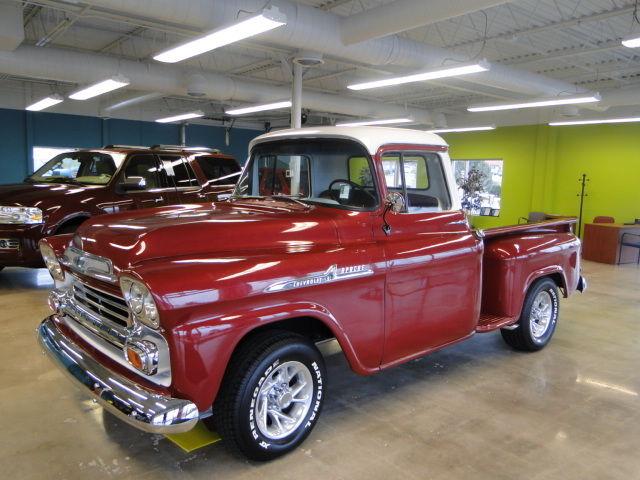 1958 chevy apache stepside pickup. Black Bedroom Furniture Sets. Home Design Ideas
