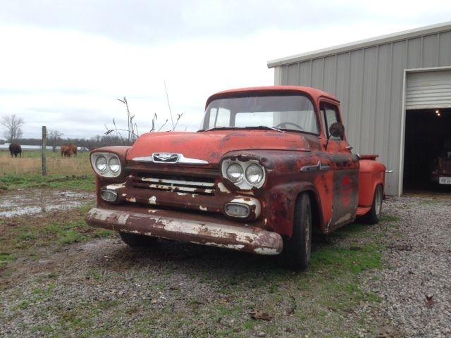 1958 Chevy Chevrolet 3100 Apache Truck Pickup Rat Rod