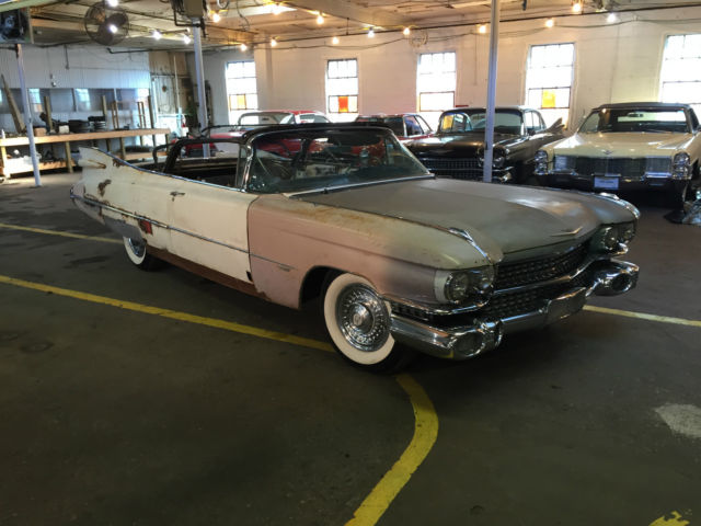 1959 Cadillac Convertible Deville Great Patina Really Nice Chrome