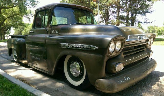1959 Chevrolet Apache Patina Shop Truck Hot Rod Original Military