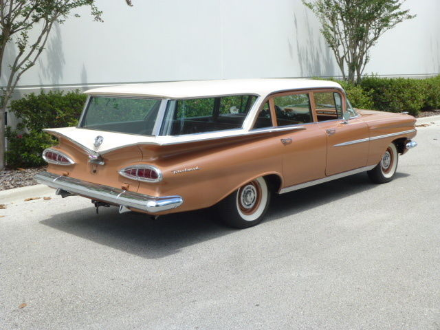 1959 Chevrolet Brookwood Station Wagon With Boat 348 Tri