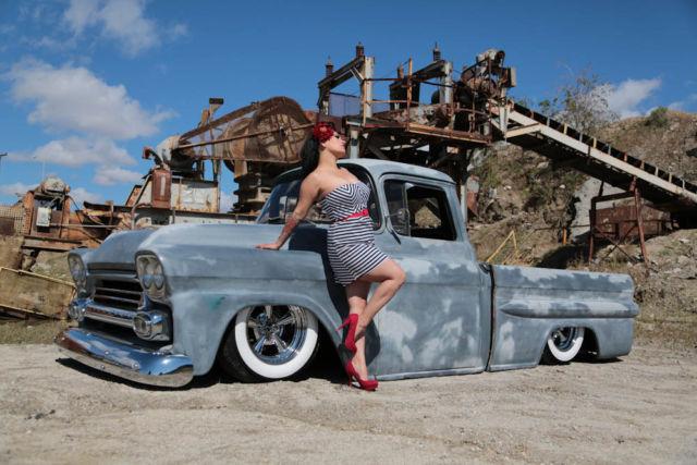 1959 Chevy Apache Fleetside Truck Chevrolet Pickup Ratrod Patina