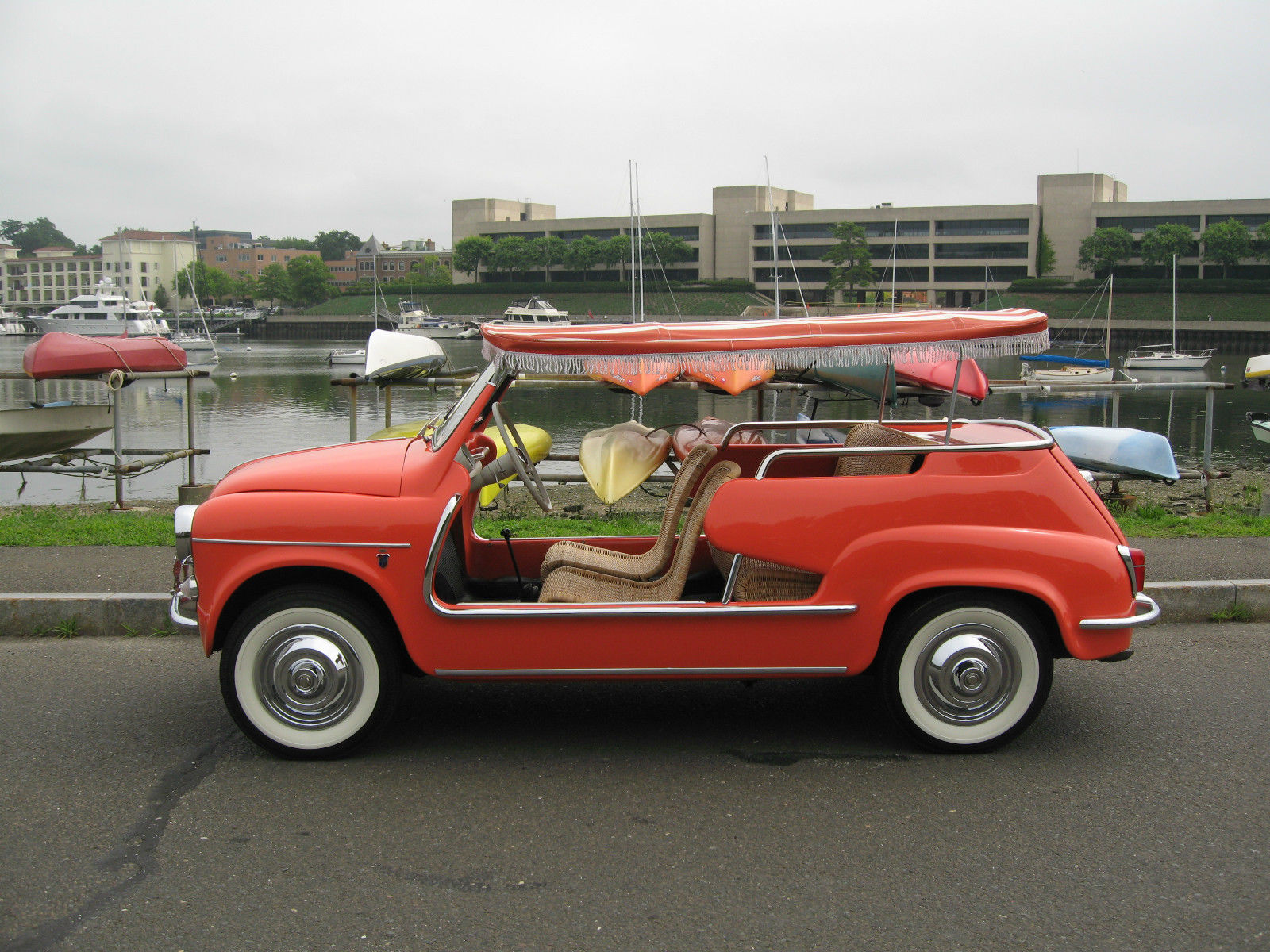 coral pinterest cars microcars top for pin jolly fiat motor pink sale surrey car and