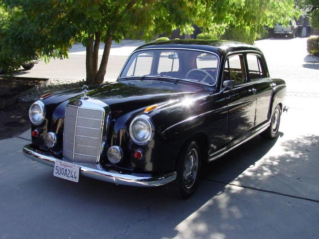 1959 mercedes 220s ambassador package four door sedan. Black Bedroom Furniture Sets. Home Design Ideas