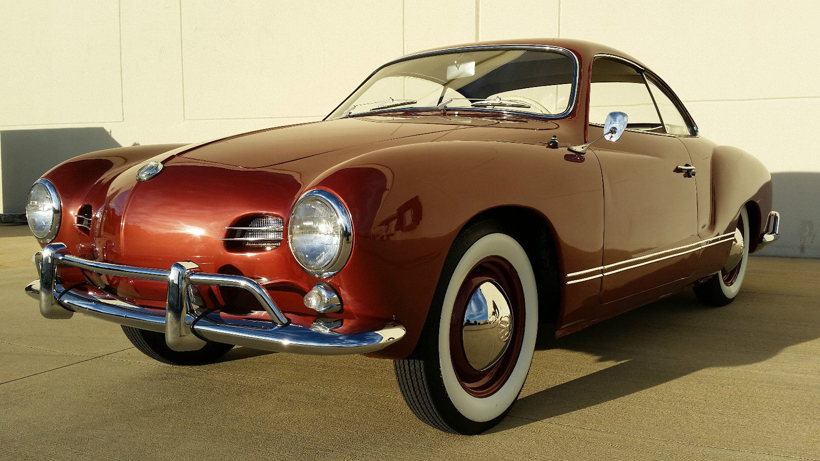 1959 vw karmann ghia low light coupe vw birth cert matching 39 s car restored. Black Bedroom Furniture Sets. Home Design Ideas