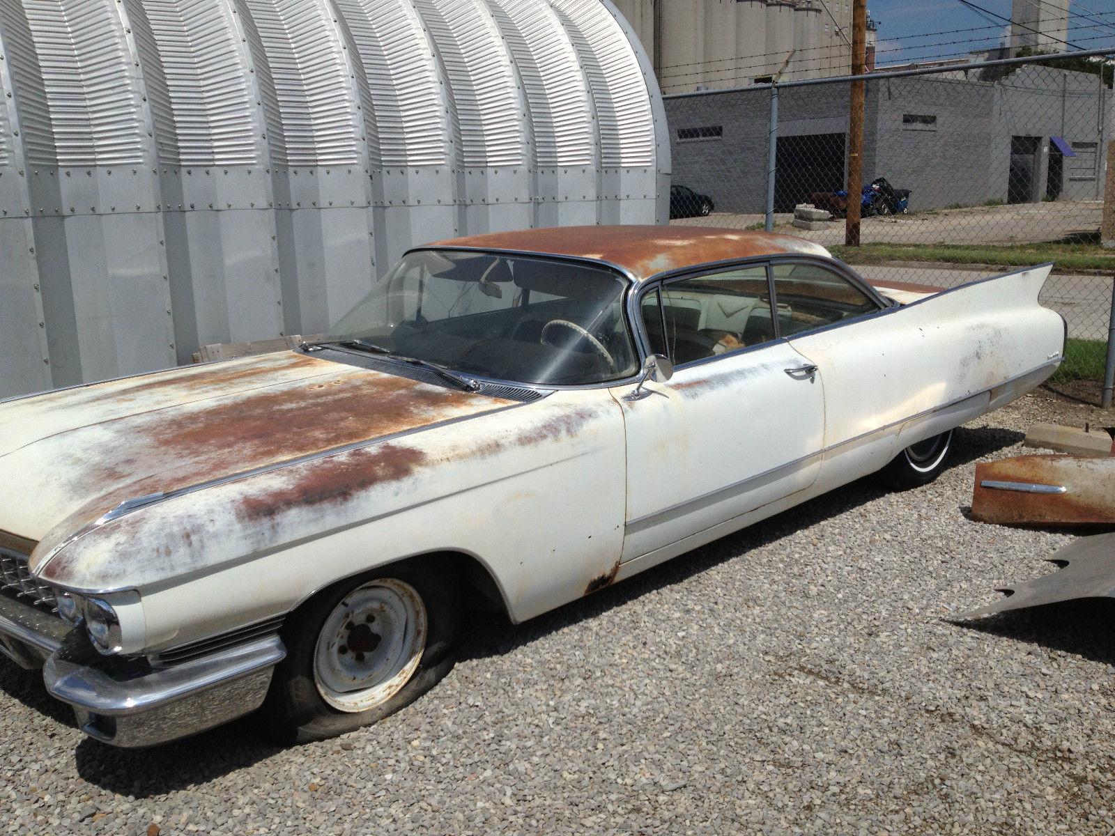 1960 Cadillac Deville Base Hardtop 2 Door Barn Find