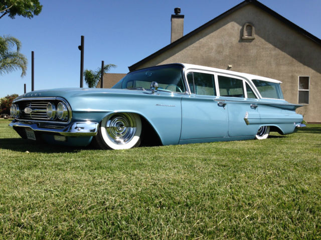 1960 chevrolet brookwood wagon mild kustom bagged. Black Bedroom Furniture Sets. Home Design Ideas