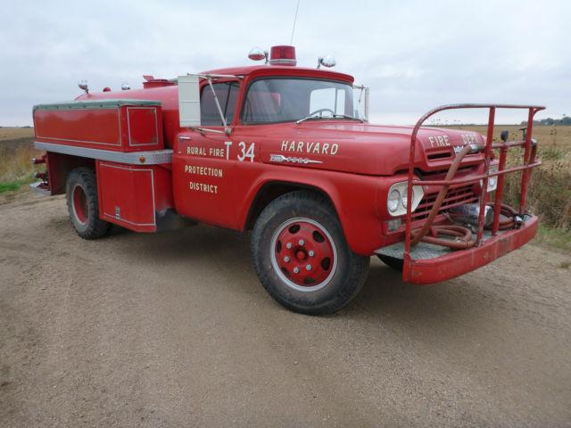1960 ford f600 fire truck pump truck 8 900 original miles runs great 292 v8 cool. Black Bedroom Furniture Sets. Home Design Ideas