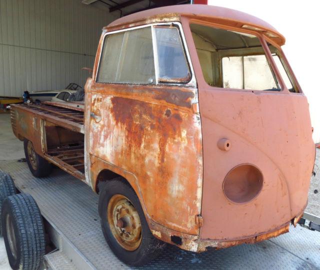 Volkswagen Bus Parts: 1960 Volkswagen VW Single Cab Dropgate Pickup Truck Great