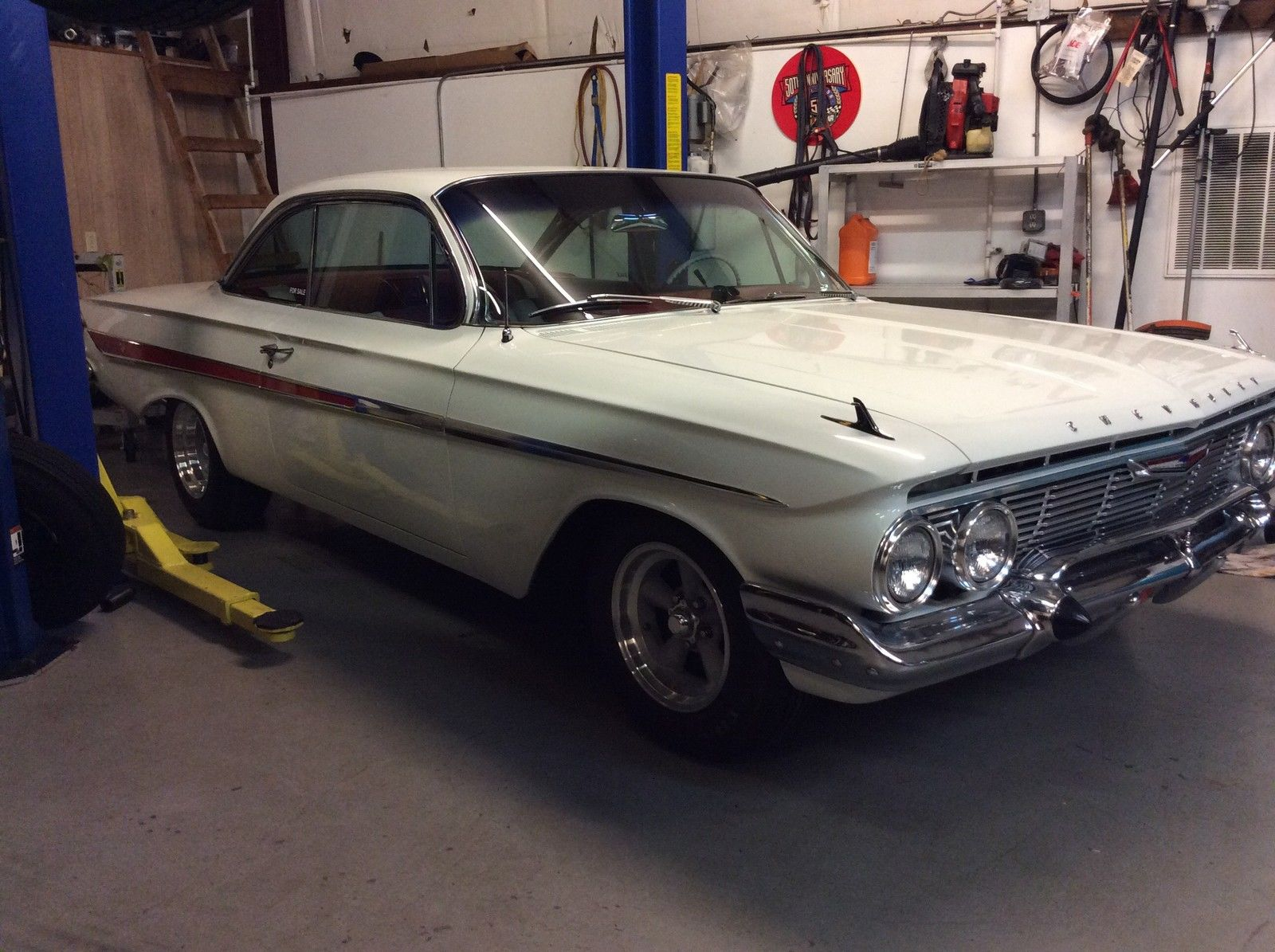 1961 Chevrolet Impala Bubble Top White With Red Interior 2 Dr Air Ps