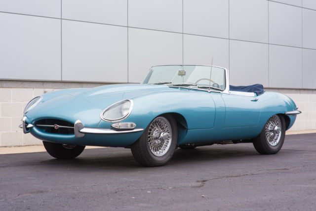 1961 jaguar e type roadster ots restored numbers matching flat floor 3 8l. Black Bedroom Furniture Sets. Home Design Ideas