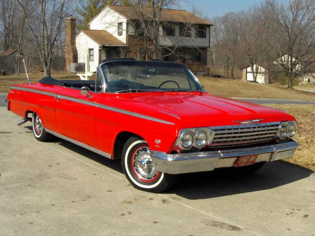 1962 Chevrolet Impala SS 409 Convertible, Roman Red w ...