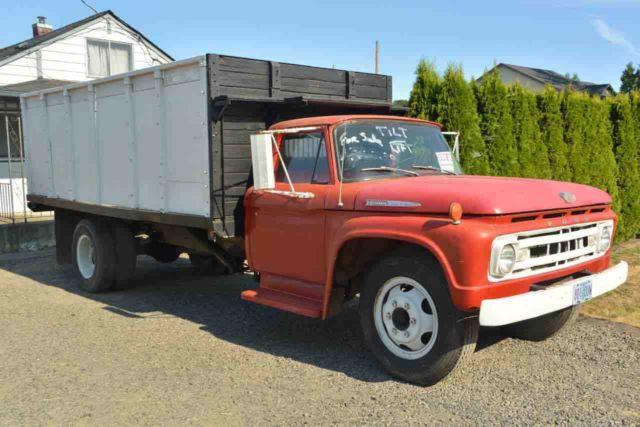 1962 Ford F600 Farm Truck W Hydraulic Extended Lift Bed