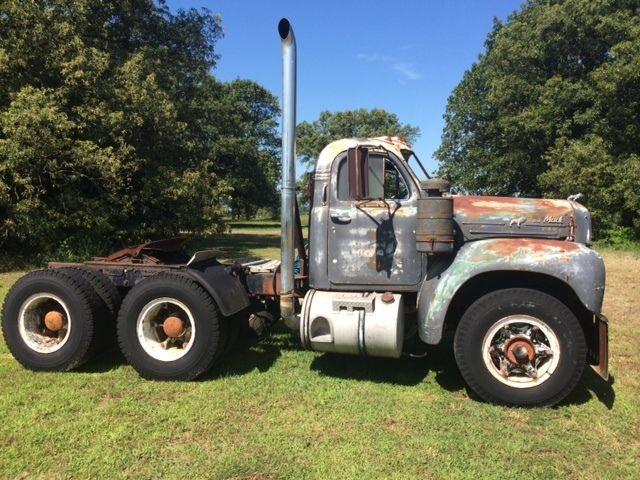 Mack Trucks B61 Models : Antique mack model b truck tandem axle thermodyne