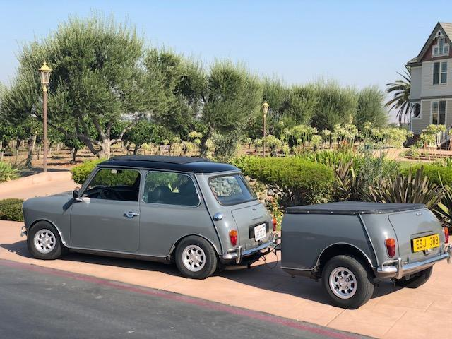 1963 classic morris mini cooper mpi and trailer