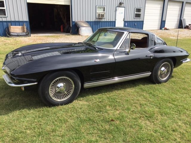 63 Split Window Corvette >> 1963 Corvette Coupe Split Window Black on Tan 340hp