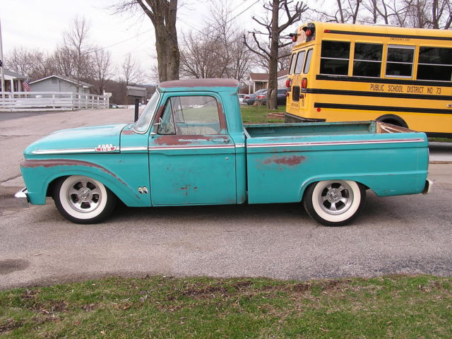 1963 ford short bed f 100 truck low rider hot rod. Black Bedroom Furniture Sets. Home Design Ideas