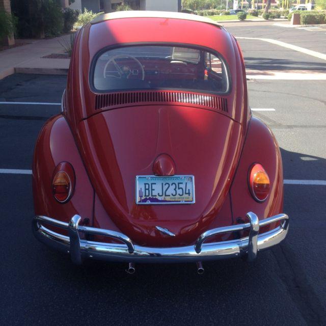 Vw 1600 Beetle For Sale: 1963 VW Bug Ragtop