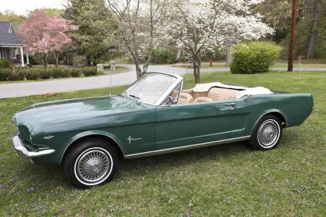 1964 1 2 Ford Mustang Convertible 289 Green 1964 1965