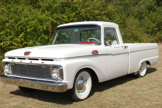 1964 ford f 100 custom cab pro built vintage restore 302 v8 short bed lowered. Black Bedroom Furniture Sets. Home Design Ideas