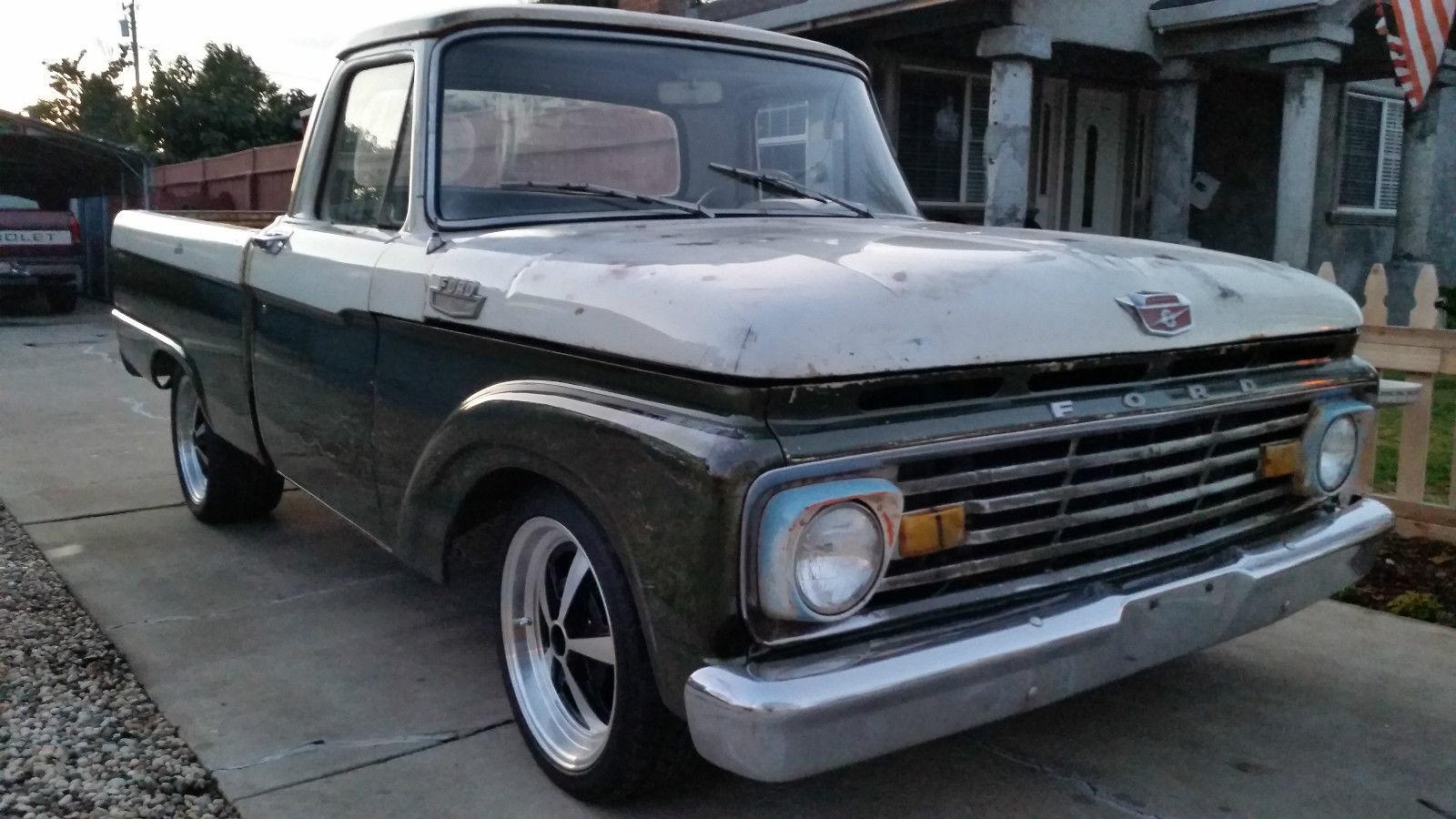 1964 Ford F100 F 100 Custom Cab Patina Shop Truck Fleet Side Short Bed 1970 Ranger Xlt