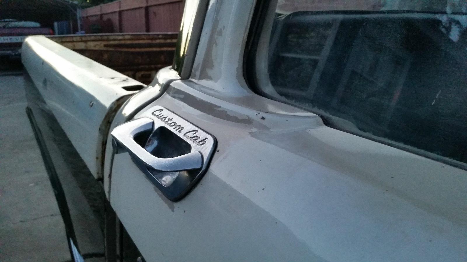 1964 Ford F100 F 100 Custom Cab Patina Shop Truck Fleet Side Short Bed
