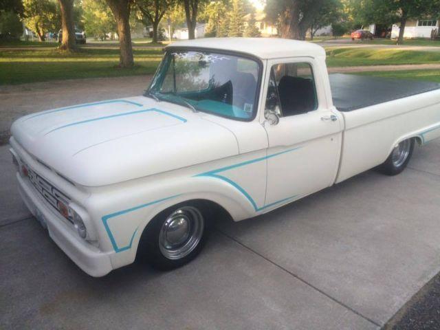 1964 ford f100 low rider truck   rat rod  inline 6  glass