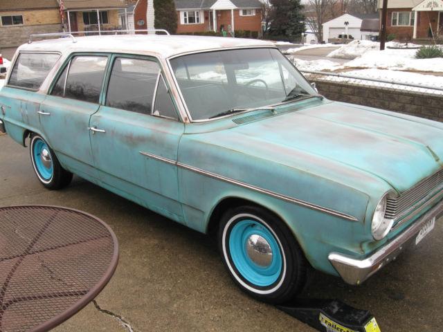 1964 rambler 330 4 door 6 pass station wagon faux patina. Black Bedroom Furniture Sets. Home Design Ideas