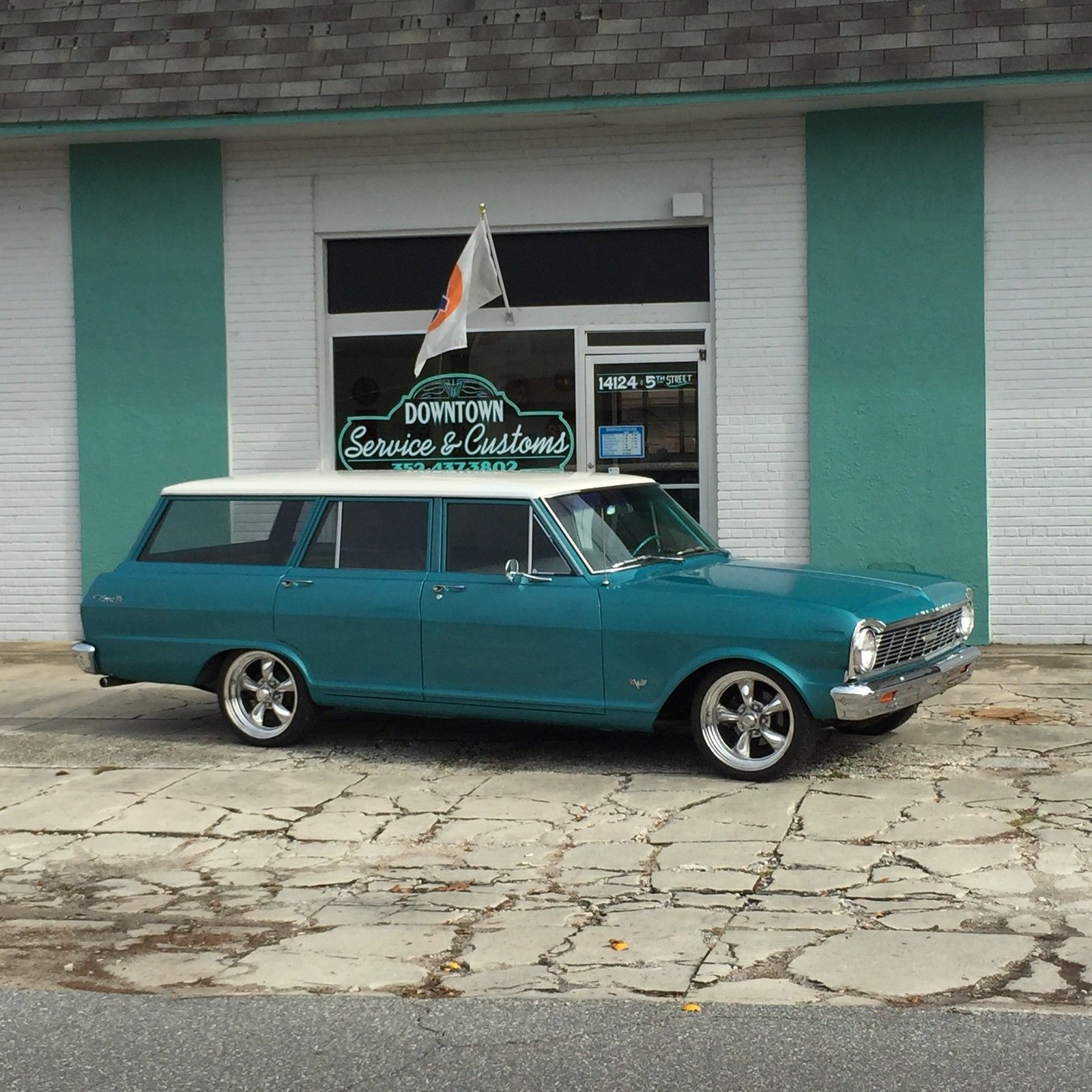 1965 Chevrolet Nova Station Wagon Air Ride Chevy Ii Hot Rod 2 Tone Bagged Custom For Sale In Dade City Florida United States