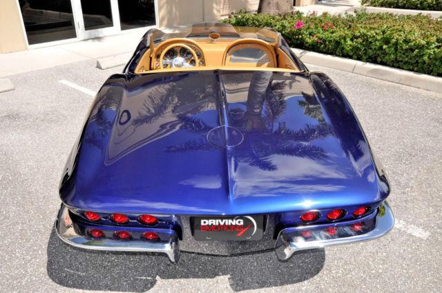 1965 chevy corvette custom resto mod blue tan 502 motor for West palm beach motor vehicle registration